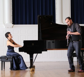 Duo with Australian clarinettist Ashley Smith called Australia Felix Sprague Hall Yale Uni April 2012